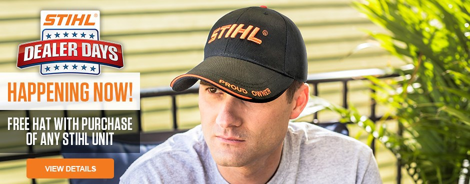 Free Hat with purchase of any STIHL Unit!